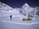 Mountainseer at Camp One Everest Northside Photographic Print by Michael Brown