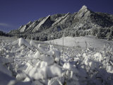Winterscene of the Flatirons in Boulder, Colorado Photographic Print by Dörte Pietron