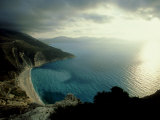 Myrtos Beach, Greece Photographic Print by David Cayless