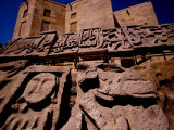 Historic Reliefs at Palace of Shirvan Shah, Baku, Azerbaijan Fotografie-Druck von Stephane Victor
