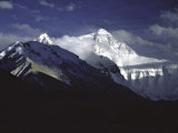 Shadowed Ridge Line Towards Mount Everest, Tibet Print by Michael Brown