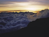 Sunset Above the Clouds, Kilimanjaro Stampe di Michael Brown