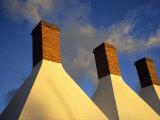 Detail of Smoke House Chimneys, Snogebaek, Denmark Photographic Print by Holger Leue