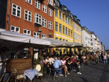 Nyhavn Outdoor Cafes, Copenhagen, Denmark Photographic Print by Holger Leue