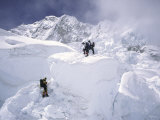 Contimplating the Route, Khumbu Ice Fall Photographic Print by Michael Brown