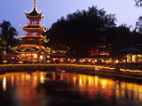 Chinese Tower at Tivoli, Copenhagen, Denmark Photographic Print by Holger Leue