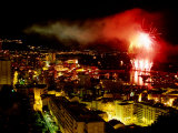 Fireworks Over Monte Carlo, Port Hercule During Summer Celebrations, Monte Carlo, Monaco Photographic Print by Dallas Stribley