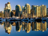 Coal Harbour Marina, Vancouver, Canada Photographic Print by David Tomlinson