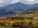 Autumn Descends on the Eastern Sierra Mountains Photographic Print