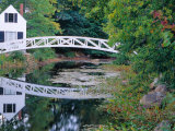 Bridge Over Pond in Somesville, Maine, USA Photographic Print by Julie Eggers
