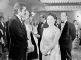 Omar Sharif with Princess Margeret at the Premier of Mackennas Gold, April 1969 Photographic Print