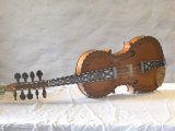 Traditional Hardanger Fiddle with Mother-of-Pearl Inlay, Rosing, Norway Fotoprint van Russell Young