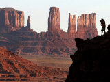A Photographer at Monument Valley in the Navajo Nation, Ariz. Photographic Print