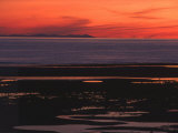 Sunset View from Walney Island Near Barrow-In-Furness Towards Isle of Man Lake District Photographic Print