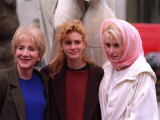 Olympia Dukakis, Julia Roberts, Daryl Hannah, Royal Film Premiere of Steel Magnolias, February 1990 Photographic Print