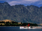 Tss Eanslaw Cruising on Lake Wakatipu, Queenstown, New Zealand Photographic Print by Anders Blomqvist