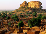 Overhead of Dogon Village Near Bandiagara, Songo, Mali Photographic Print by Ariadne Van Zandbergen