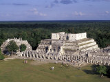 Temple of Columns, Chichen Itza Ruins, Maya Civilization, Yucatan, Mexico Photographic Print by Michele Molinari