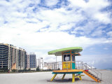 Life Guard Station, South Beach, Miami, Florida, USA Photographic Print by Terry Eggers
