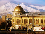 Emam Khomeini Square with Backdrop of Zagros Mountains, Hamadan, Iran Photographic Print by Mark Daffey