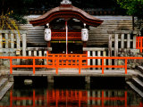 Pond at Shimogamo Shrine, Kyoto, Japan Photographic Print by Frank Carter