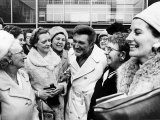 Liberace Arrives at Heathrow Photographic Print