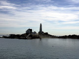 Boston Light is Seen on Little Brewster Island in Boston Harbor Photographic Print