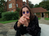 Ozzy Osbourne, Lead Singer with Rock Band Black Sabbath, October 1998 Lámina fotográfica