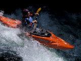 Kayaker on the White Salmon River, Gorge Games, Oregon, USA Photographic Print by Lee Kopfler