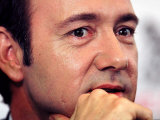 Kevin Spacey at Press Conference Announced His Role as Director of the Old Vic Theatre, Feb 2003 Fotografisk tryk