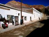 Seven Colours Hill Above Andean Village of Quebrada de Humahuaca, Argentina, Photographic Print