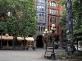 Pioneer Building and Totem Pole in Pioneer Square, Seattle, Washington, USA Photographic Print by Jamie &amp; Judy Wild