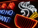 Neon Sign at Foo's Ho Ho Restaurant, Chinatown, Vancouver, Canada Photographic Print by Lawrence Worcester