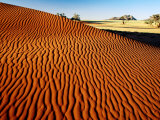 Sand Dune Ripples in Namib Nauklaft National Park, Namib Desert Park, Namibia Photographic Print by Christer Fredriksson