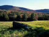 Stone Wall in the Green Mountains, Vermont, USA Photographic Print by Jerry & Marcy Monkman