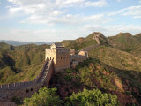 The Sun Sets Over the Jinshanling Section of the Great Wall of China Fotoprint