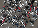 Vehicles Damaged by Hurricane Katrina Photographic Print