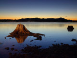 The First Light of Dawn Silhouettes the Katahdin Range East of Chesuncook Lake Photographic Print