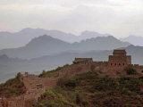 A Watchtower Stands Amid Mountains on the Jinshanling Section of the Great Wall of China Photographic Print