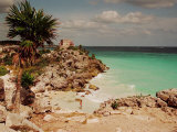 Mayan Ruins Near Cancun Photographic Print