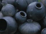 Black Pottery, San Bartolo Coyotepec, Oaxaca, Mexico Photographic Print by Judith Haden