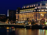 Fullerton Hotel at Night, Singapore, Singapore Photographic Print by Phil Weymouth