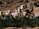 Typical Hadramawt Village with Date Plantation in Foreground, Wadi Daw'an, Yemen Photographic Print by Frances Linzee Gordon