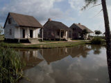Houses in the Bayou Country of Louisiana Photographic Print