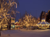 Gazebo and Main Street at Christmas, Leavenworth, Washington, USA Photographic Print by Jamie & Judy Wild