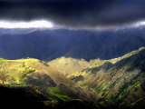 Sunlight Strikes the Canyon Walls of Hells Canyon Photographic Print