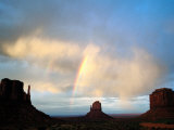Rainbow Over Buttes, Monument Valley Navajo Tribal Park, U.S.A. Photographic Print by Levesque Kevin