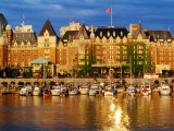 Empress Hotel with Harbour in Foreground, Victoria, Canada Photographic Print by Lawrence Worcester