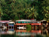 Stilt Houses, Chamorro Bay, Colonia, Micronesia Photographic Print by John Elk III