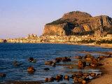 Seaside Resort From Across Sea, Cefalu, Italy Photographic Print by John Elk III